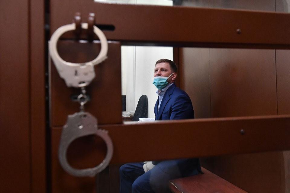 Губернатор Хабаровского края Сергей Фургал в зале Суда