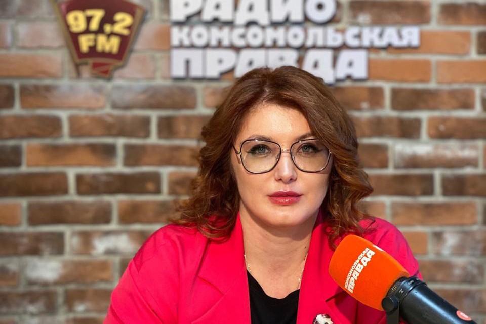 Адвокат, юрист Ирина Калинина в студии Радио «Комсомольская правда».