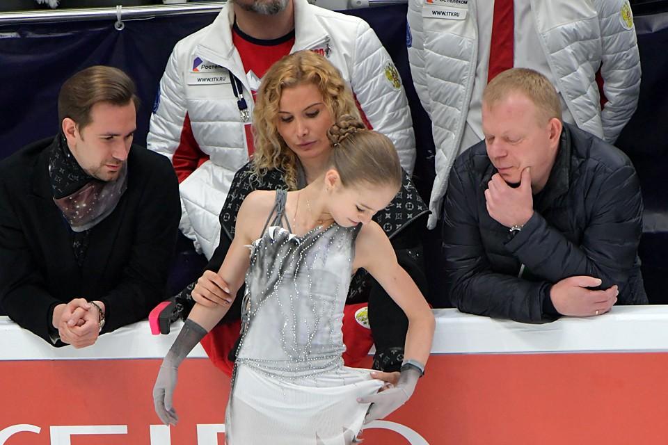 Александра Трусова не так давно ушла от Этери Тутберидзе к Евгению Плющенко