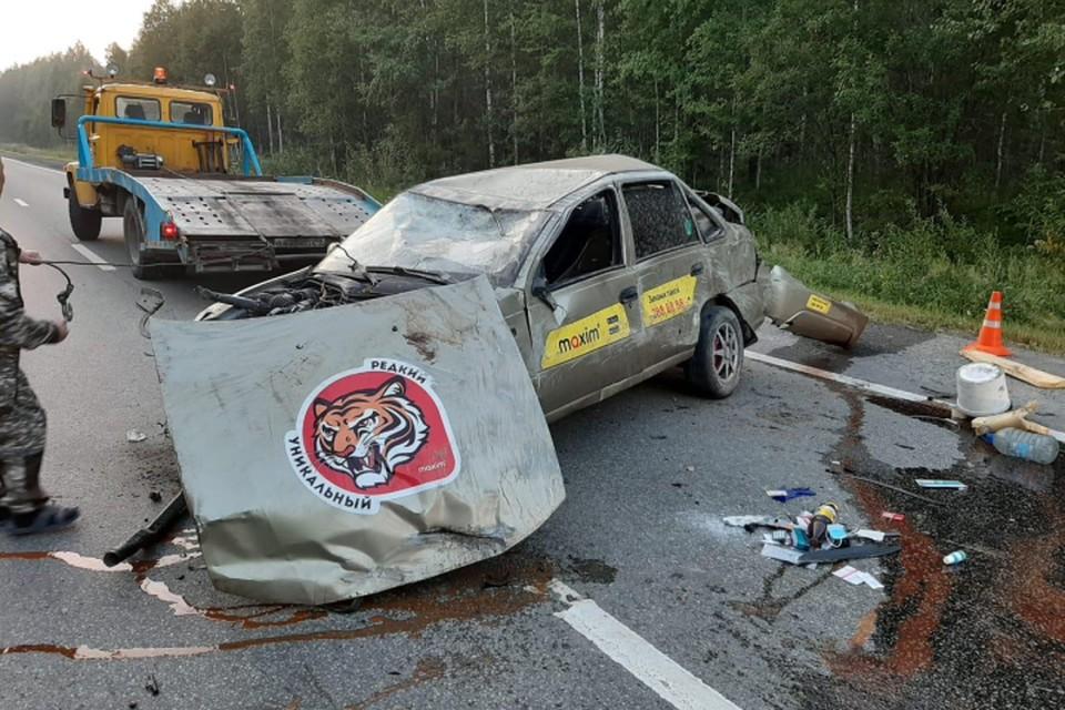 В аварии пострадал водитель и 6-летний ребенок. Фото: УГИБДД по Свердловской области