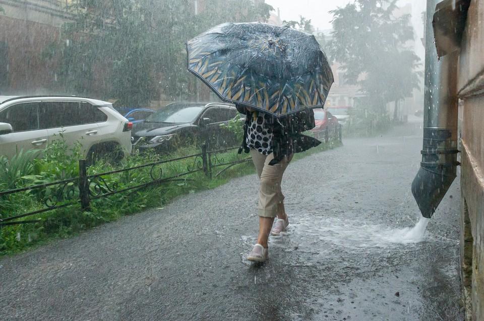 В Петербурге ожидаются подтопления из-за ливня 28 июля