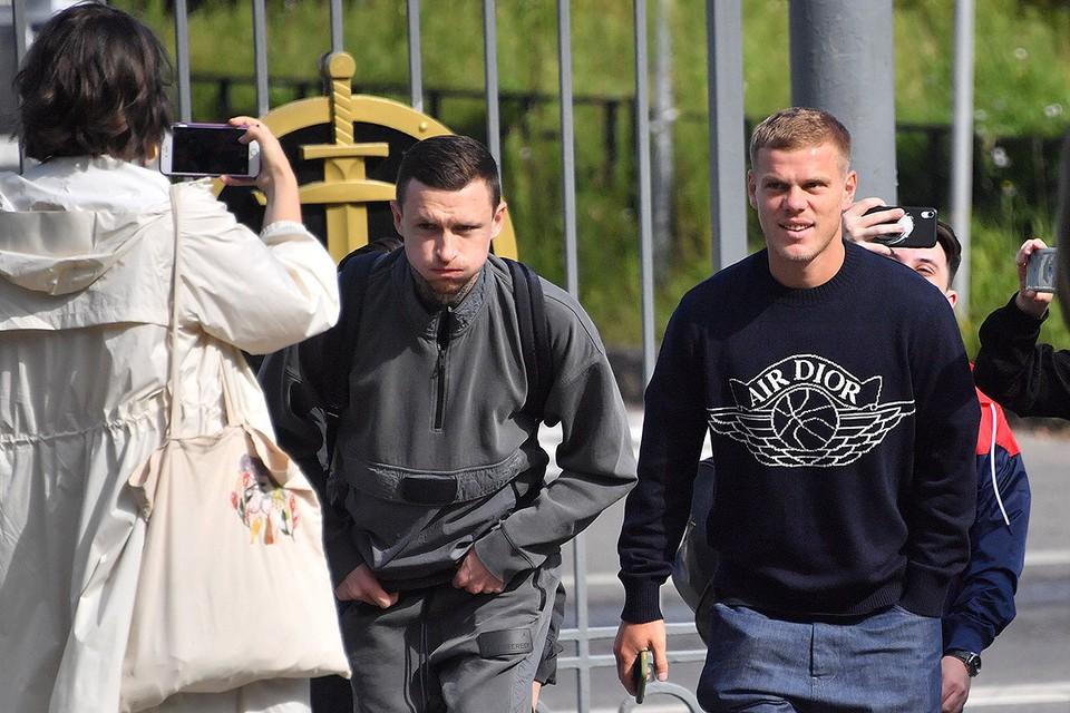 Павел Кокорин и Александр Мамаев перед началом судебного заседания.