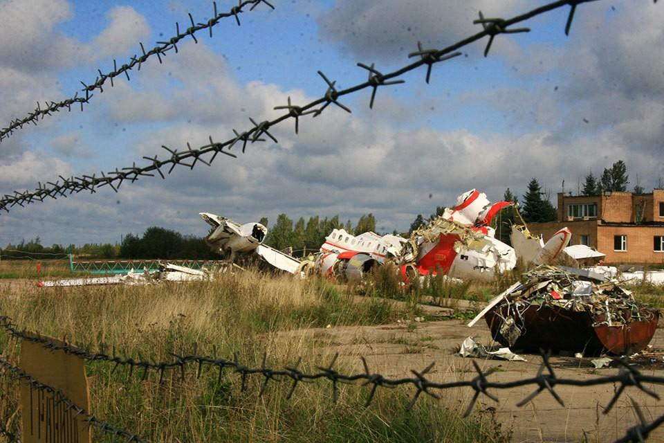 """станки самолета польского президента Леха Качиньского, которые разбился под Смоленском 10 апреля 2010 года, находятся на аэродроме """"Северный""""."""