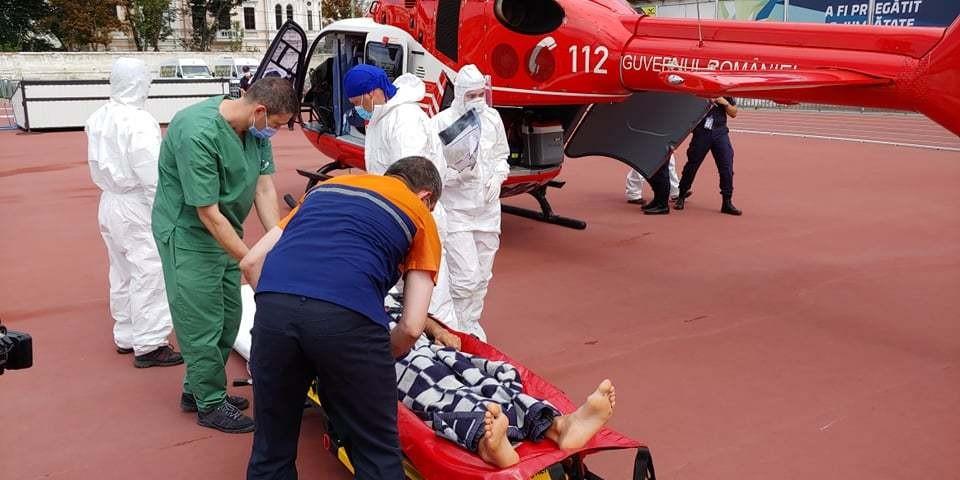 Пациента вертолетом доставили в Кишинев (Фото: aif.md).