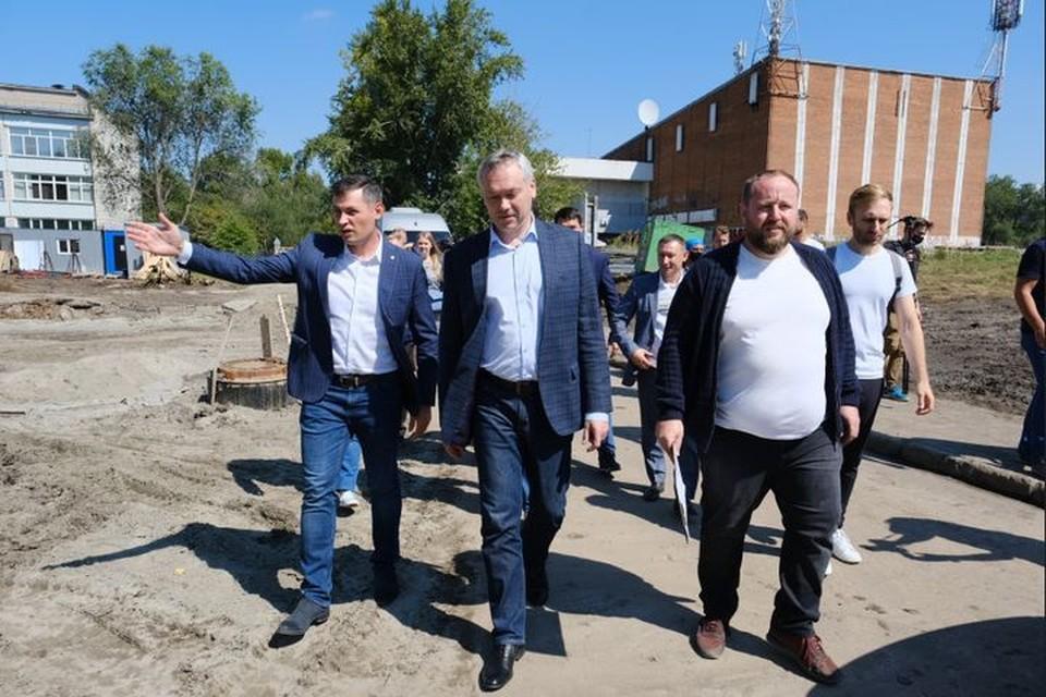 Андрей Травников проверил строительство Затулинского дисперсного парка. Фото: правительство НСО
