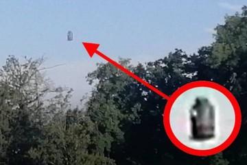 НЛО – ну, вылитый пепелац из фильма «Кин-дза-дза!» – появился в небе над Швейцарией