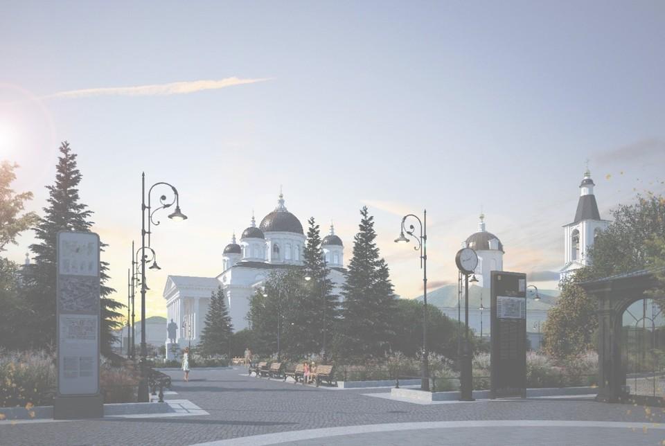 К 2021 году реконструируют Соборную площадь в Арзамасе. Фото: АНО «Управляющая компания по развитию Саровско-Дивеевского кластера».