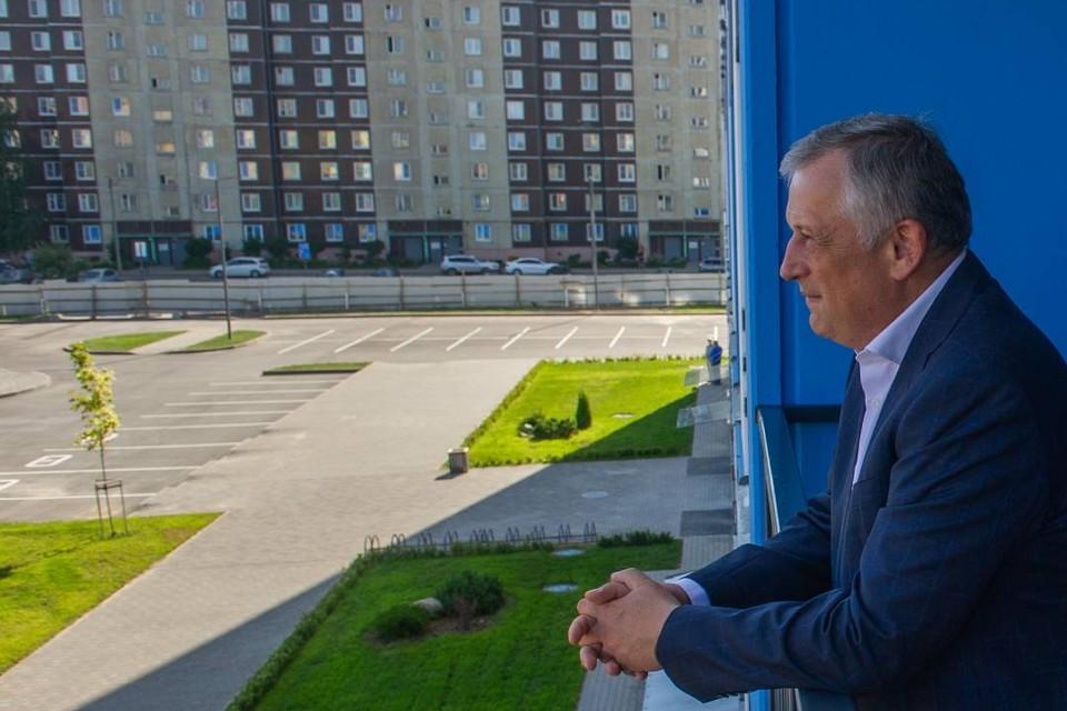 Глава Ленобласти проверил, как обстоят дела в будущей столице региона.