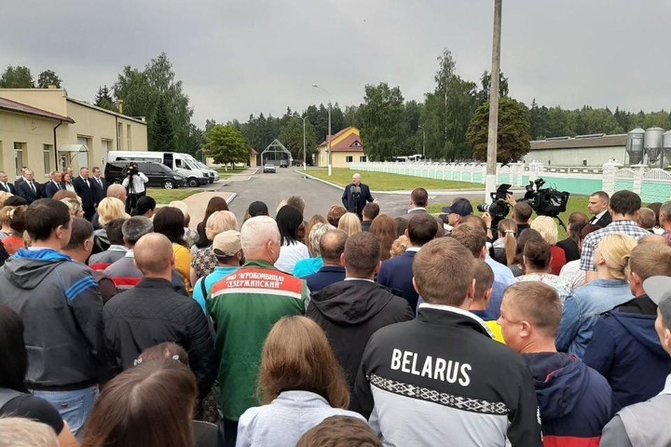 "Лукашенко 21 августа посетил агрокомбинат ""Дзержинский"". Фото: БелТА"