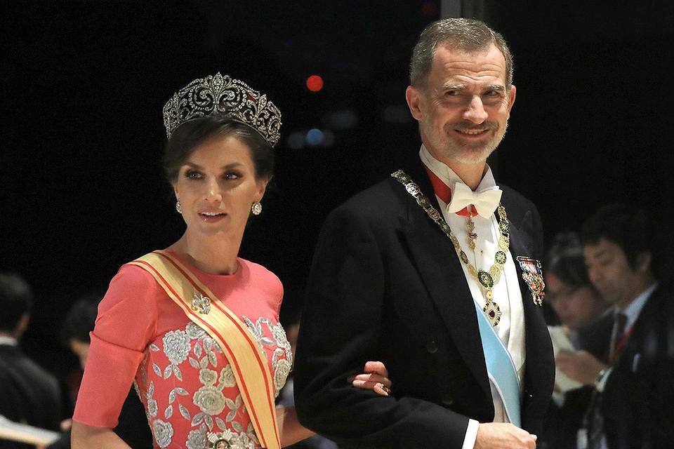 Король Испании Филипп VI и королева Летиция