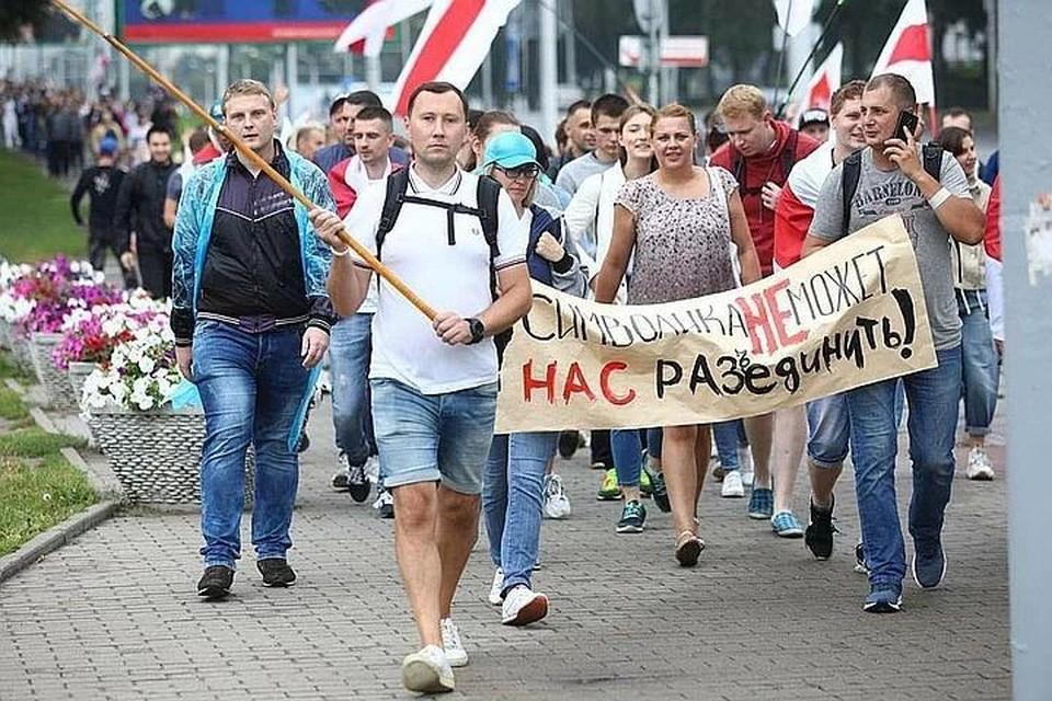Нескольких участников протеста оппозиции задержали в Минске