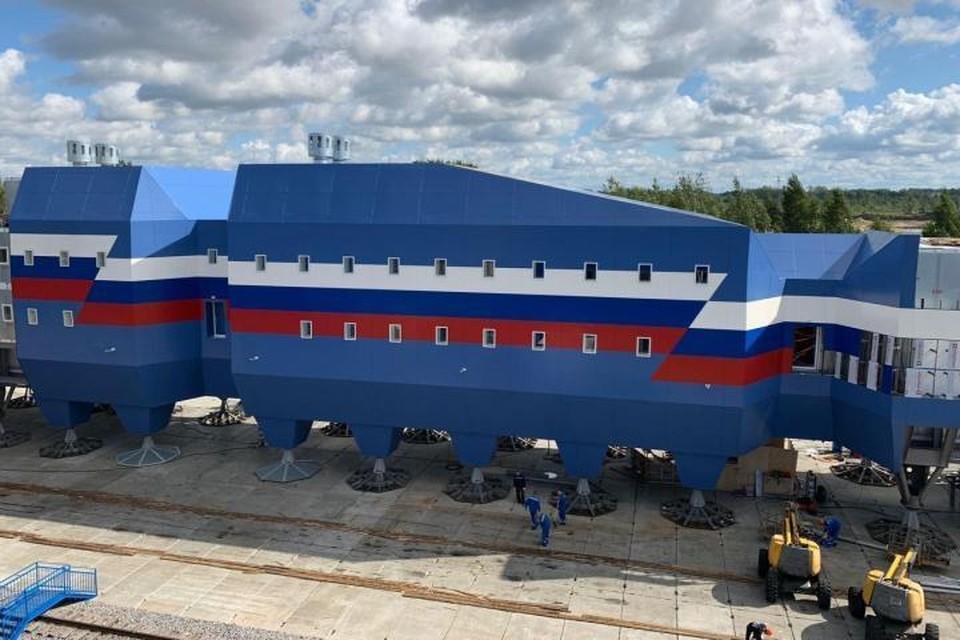 Завершено создание нового зимовочного комплекса антарктической станции «Восток». Фото: Предоставлено пресс-служба Минприроды