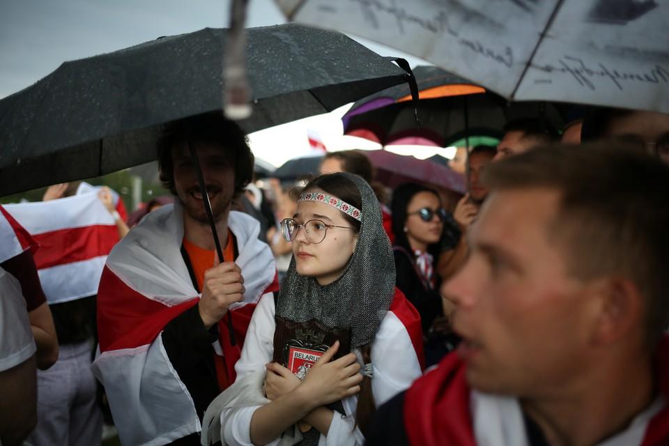 Журналистов задержали во время работы на марше студентов 1 сентября