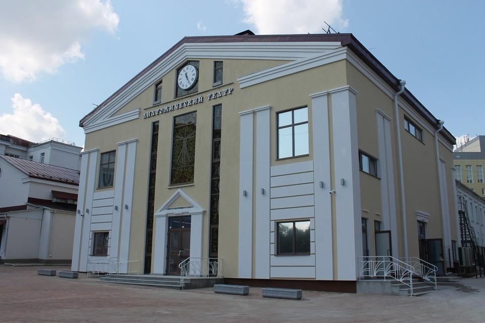 Анатомический театр построен в стиле античного театра