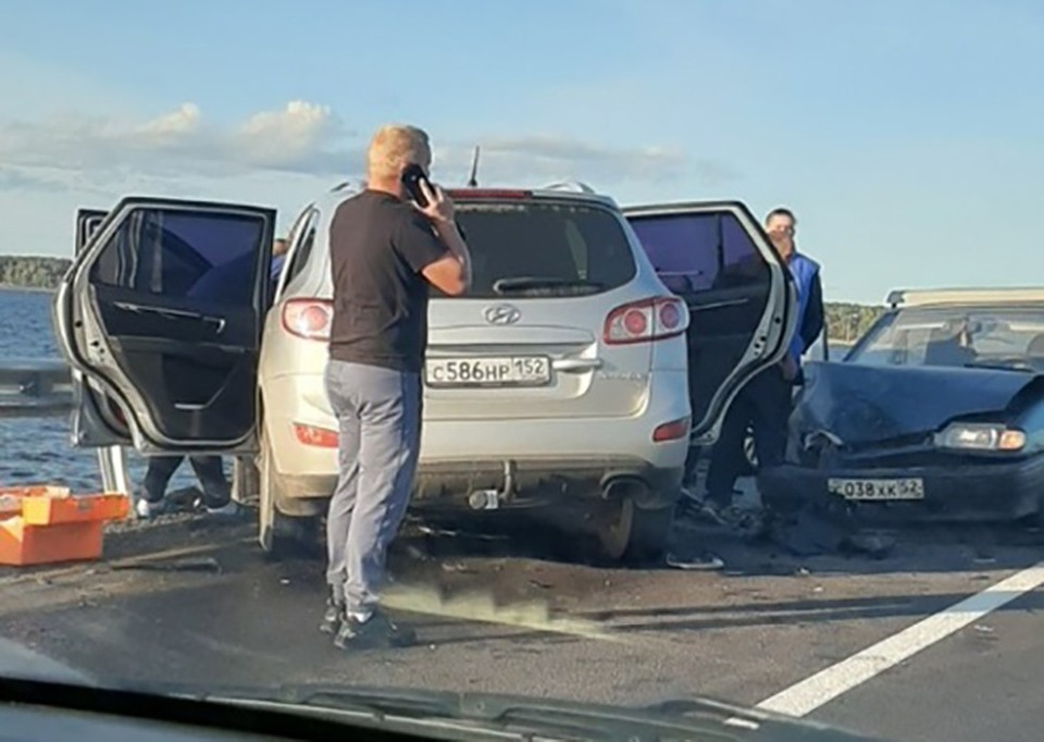 """Массовая авария на нижегородской дамбе попала на видео. ФОТО: """"Типичное Заволжье"""""""