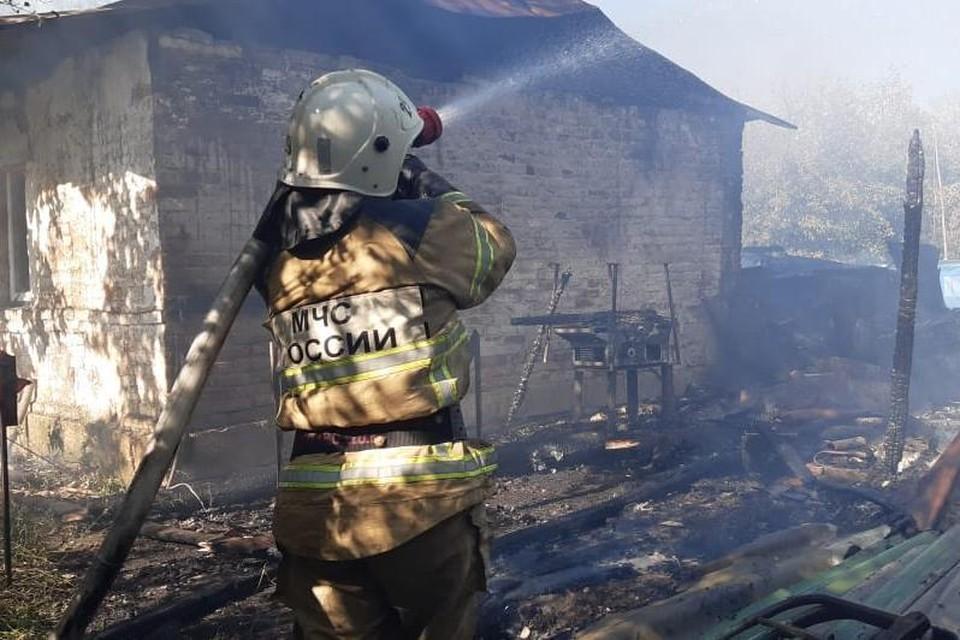 Пожар в Становлянском районе