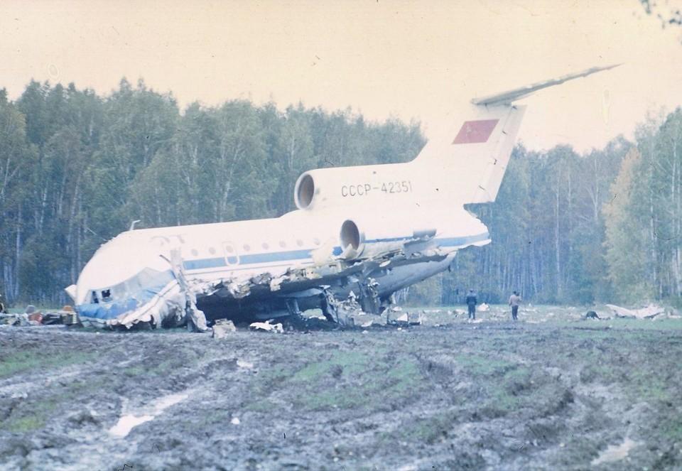 Место крушения Як-42. Фото: из архива Степанова Е.А. предоставлено сайтом airdisaster.ru