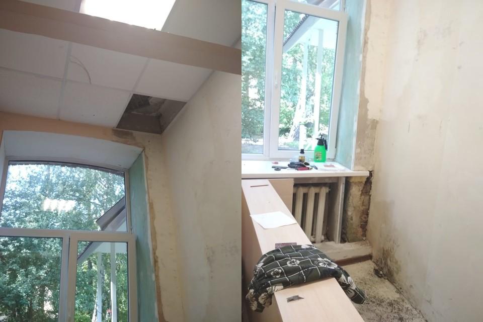 """Вода затопила одно из пяти комнат. Фото: предоставлено приютом """"Нечаянная радость""""."""