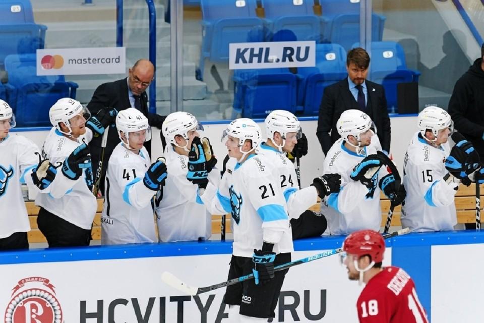 «Динамо» занимает место в зоне плей-офф. Фото: hcdinamo.by