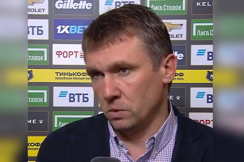 Андрей Талалаев едва не расплакался то ли от злости, то ли от обиды. Фото: кадр видео «Матч ТВ»