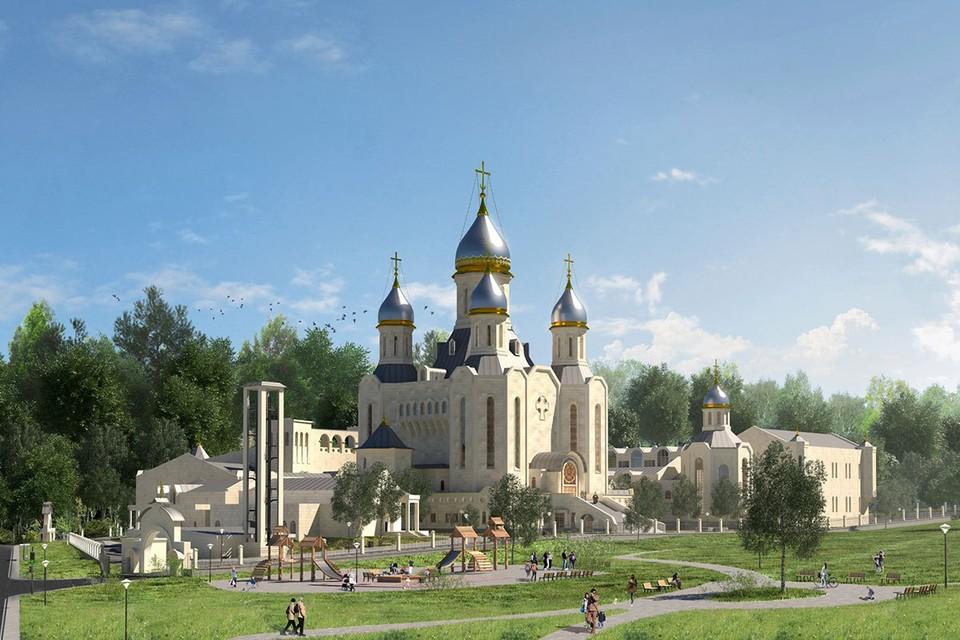 Проект главного спортивного храма России. Фото:dmdonskoy.ru