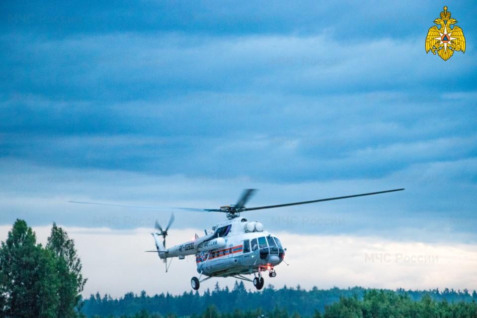 Вертолет санавиации совершил срочный вылет в Калязинский район Фото: ГУ МЧС России по Тверской области