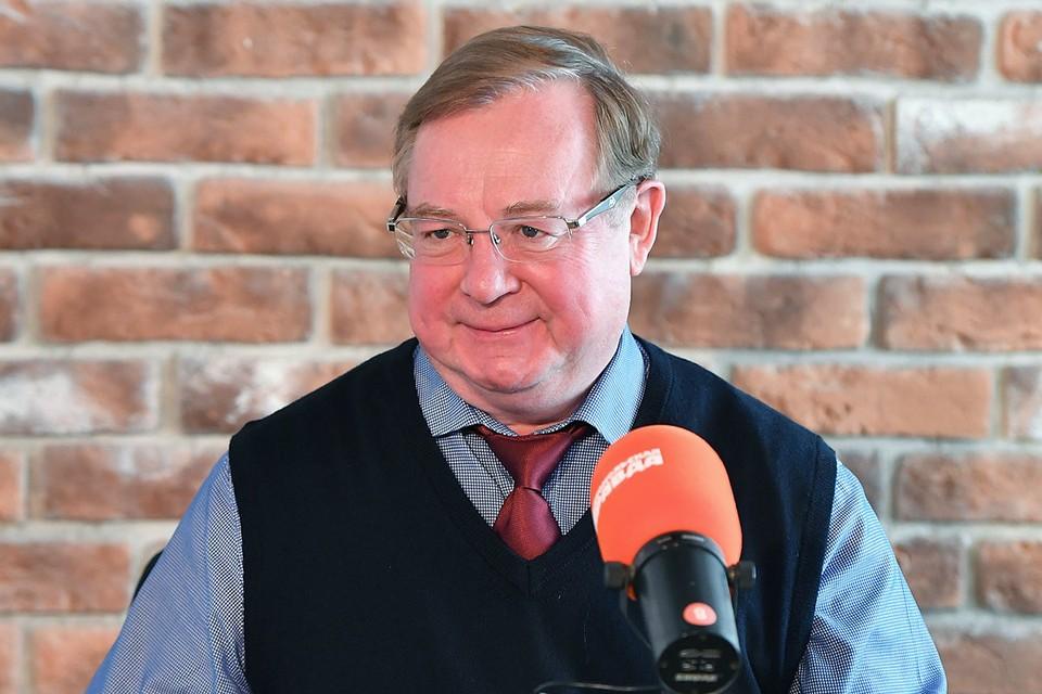 Сергей Степашин на радиостанции `Комсомольская правда`.