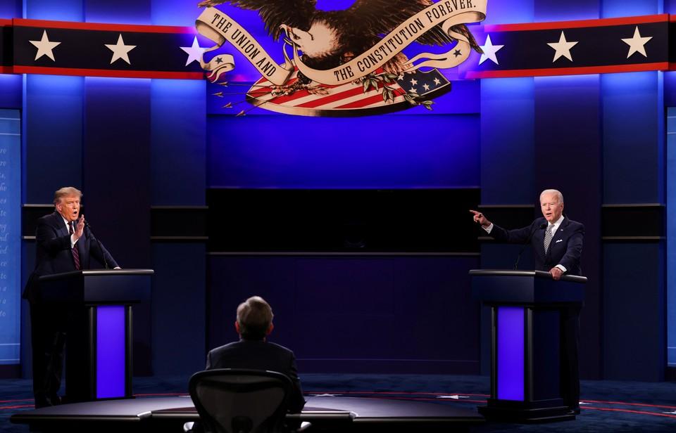 Прошли первые дебаты Трампа и Байдена