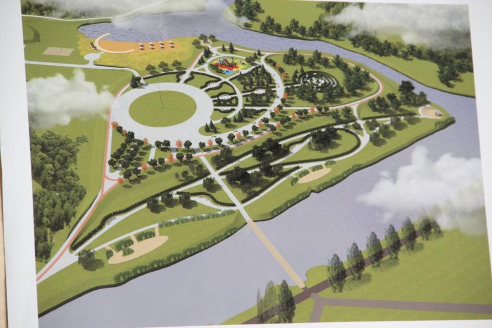"""Парк """"Покровский"""" разместится на противоположном берегу канала Цны"""