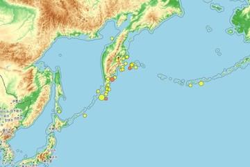 У берегов Камчатки произошло землетрясение магнитудой 5.0