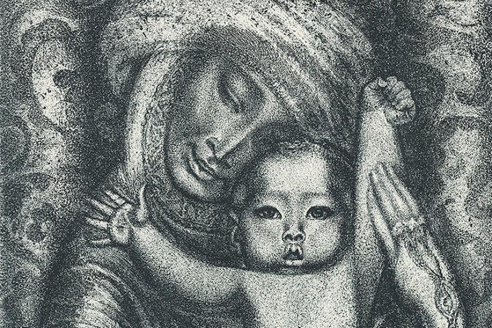 Семейный портрет, написанный Гульфайрус Мансуровной, занимает одну из стен экспозиции.
