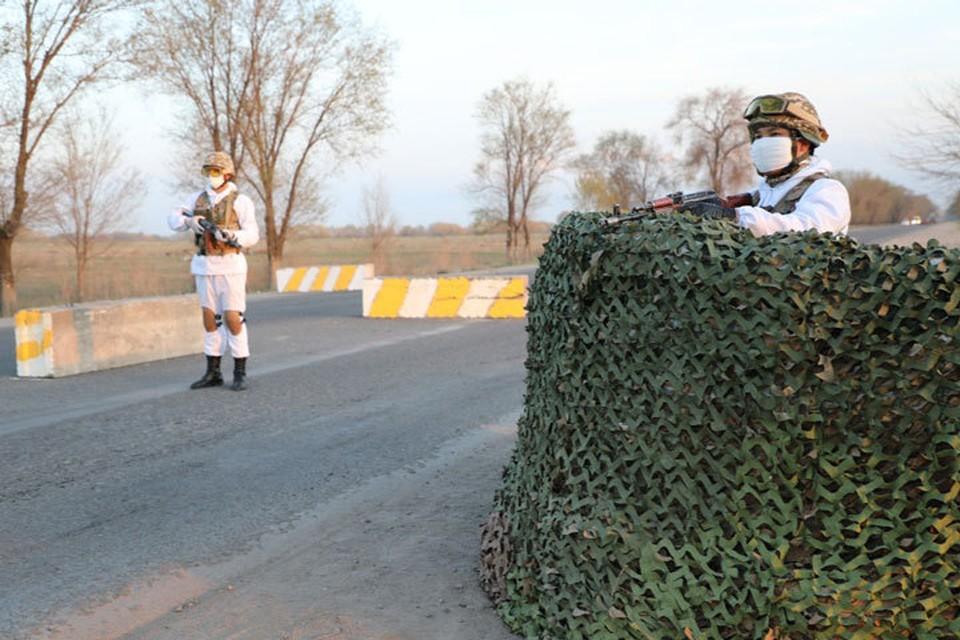 В Ошской области установили блокпосты (фото иллюстративное).