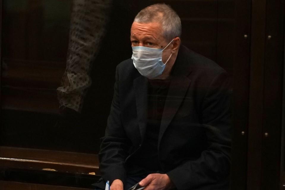 Михаил Ефремов на судебном заседании 20 октября. Фото: пресс-служба Мосгорсуда
