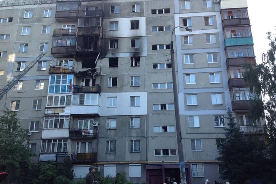 Здание пострадавшее от взрыва газа.