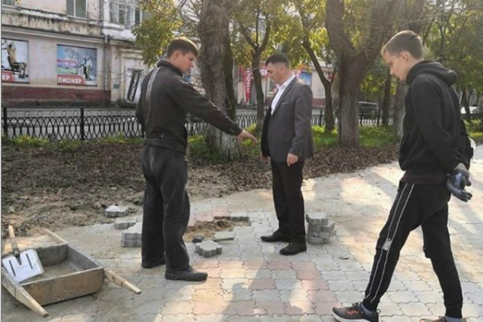 Парламентарии в Хабаровском крае проверили качество благоустройства общественных территорий