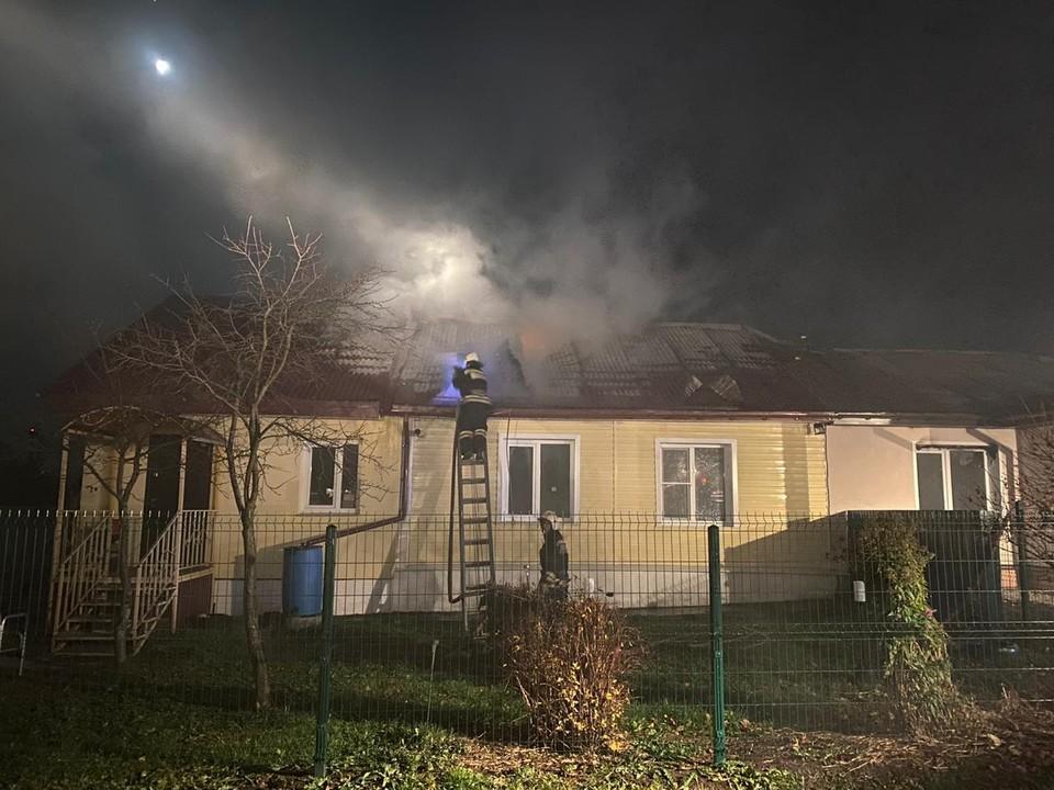 Пожар в селе Новоалександрово Суздальского района