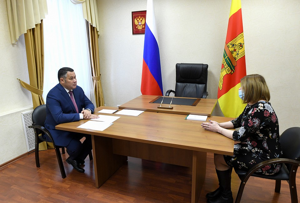 Губернатор Игорь Руденя провел личный прием граждан Фото: ПТО