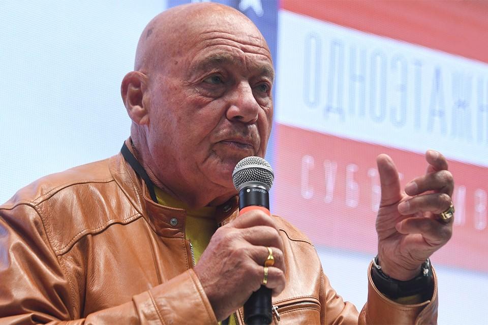Владимир Познер на презентации своей книги `Одноэтажная Америка` в сентябре 2020 г.