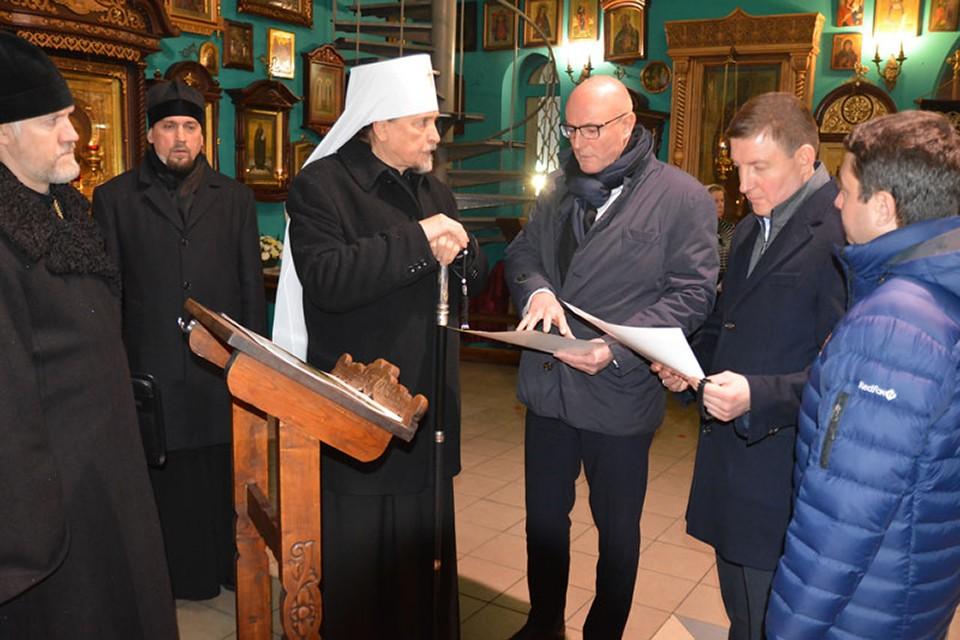 Митрополит также поднял острую для Мурманской области тему - строительство кафедрального собора. Фото: Мурманская епархия