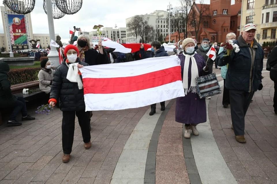 Участники акции оппозиции в Минске. Фото: Иван ИВАНОВ