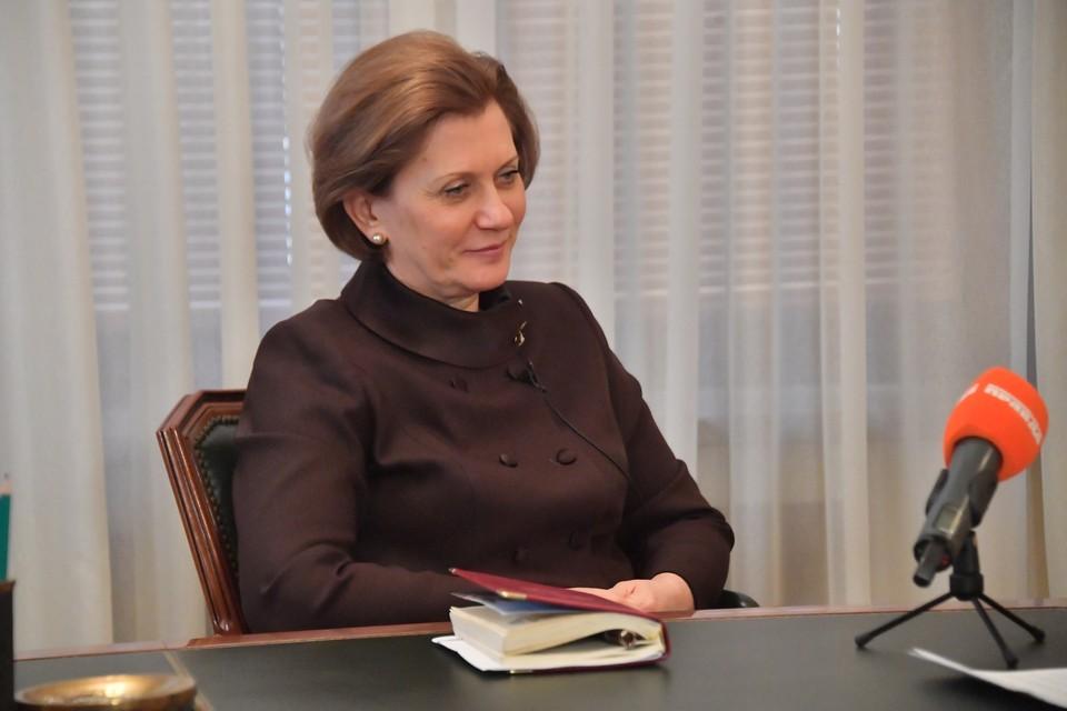 Попова рассказала, как долго будут действовать меры профилактики COVID-19.