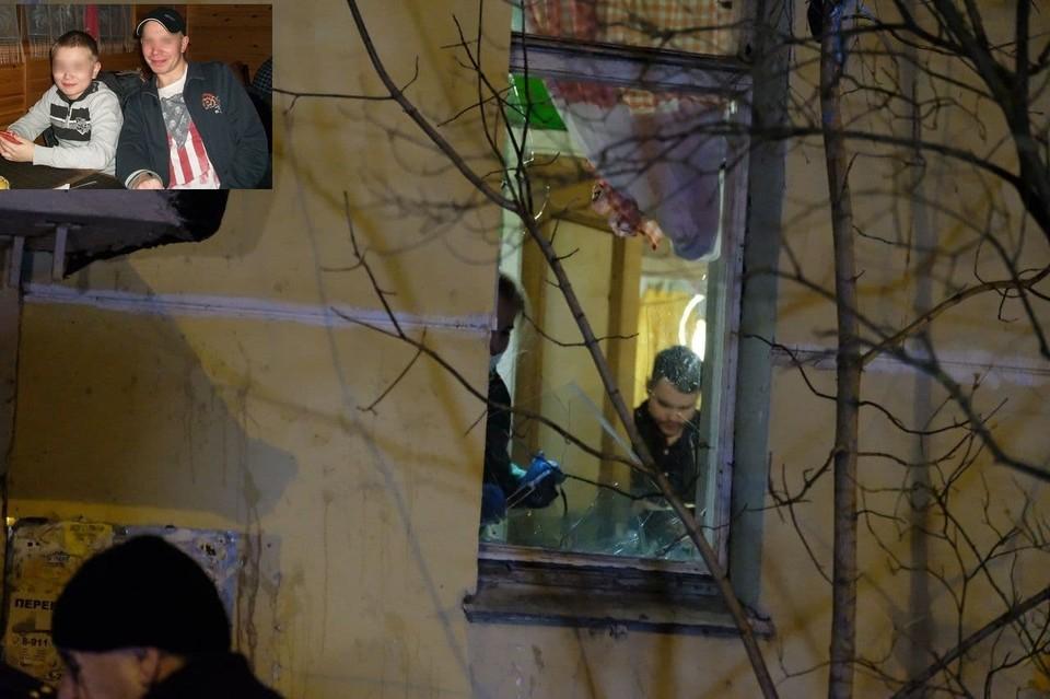 Мужчина выбил окно и вел переговоры с женой через него, журналистов туда не пускали