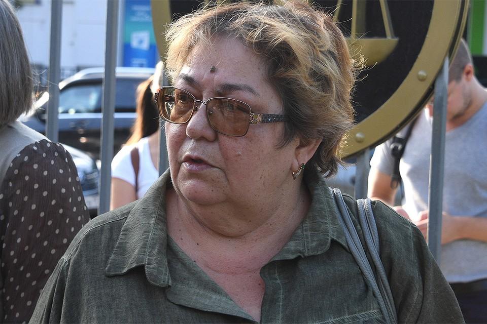 Ирина Стерхова перед началом судебного заседания, август 2020 г.