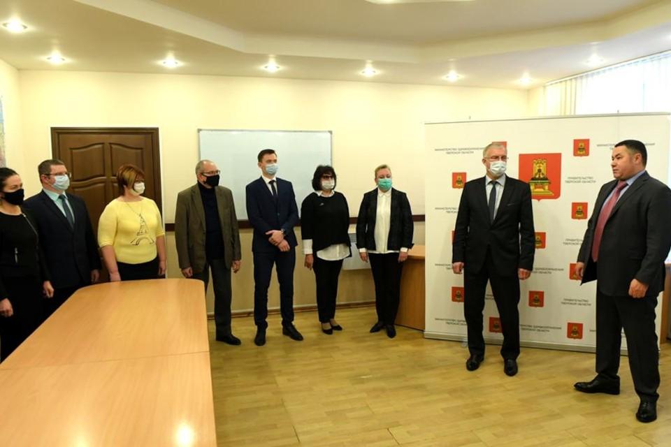 Губернатор Тверской области представил коллегам нового министра здравоохранения. Фото: ПТО.