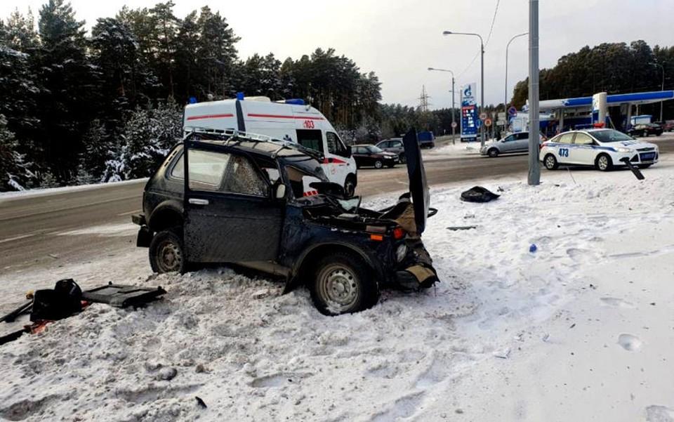 Пожилой водитель не справился с управлением авто и погиб в результате ДТП