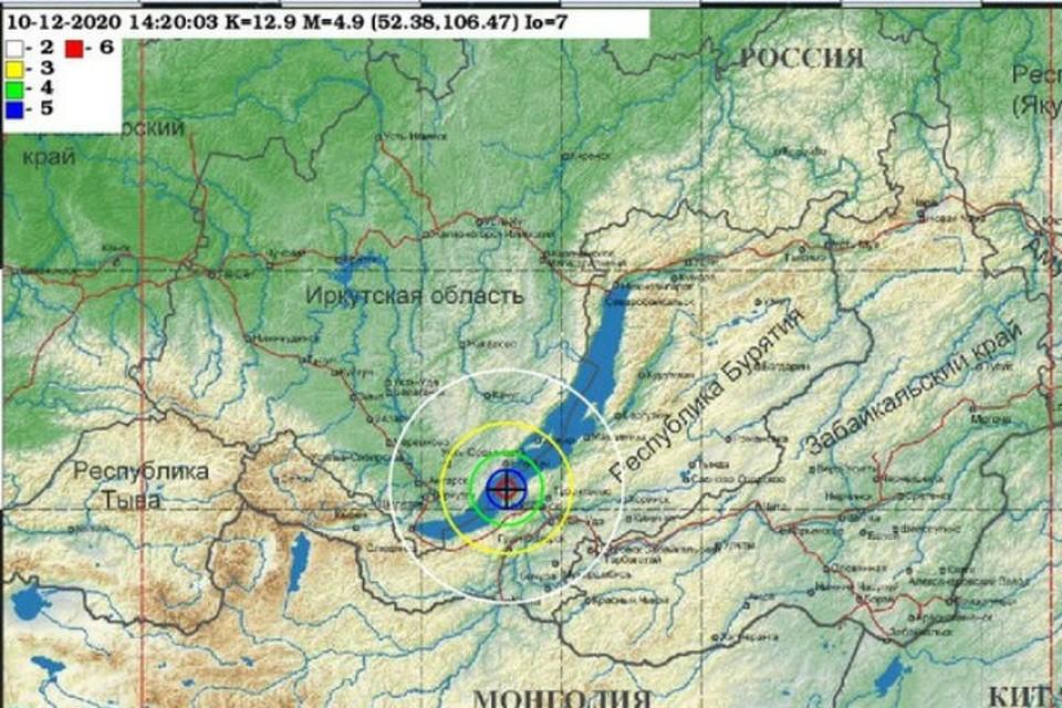 Повторное землетрясение в Иркутске 10 декабря 2020: эксперты не исключают еще один толчок. Фото: Байкальский филиал Единой геофизической службы РАН.