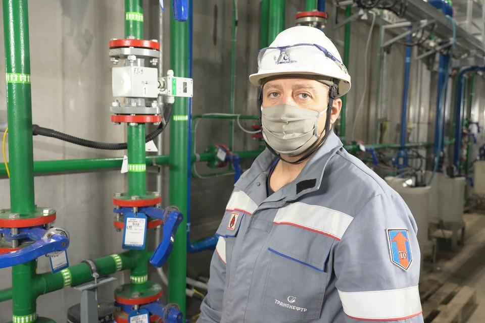 Александр Хвостов о воде знает все. Фото: АО «Транснефть - Приволга»