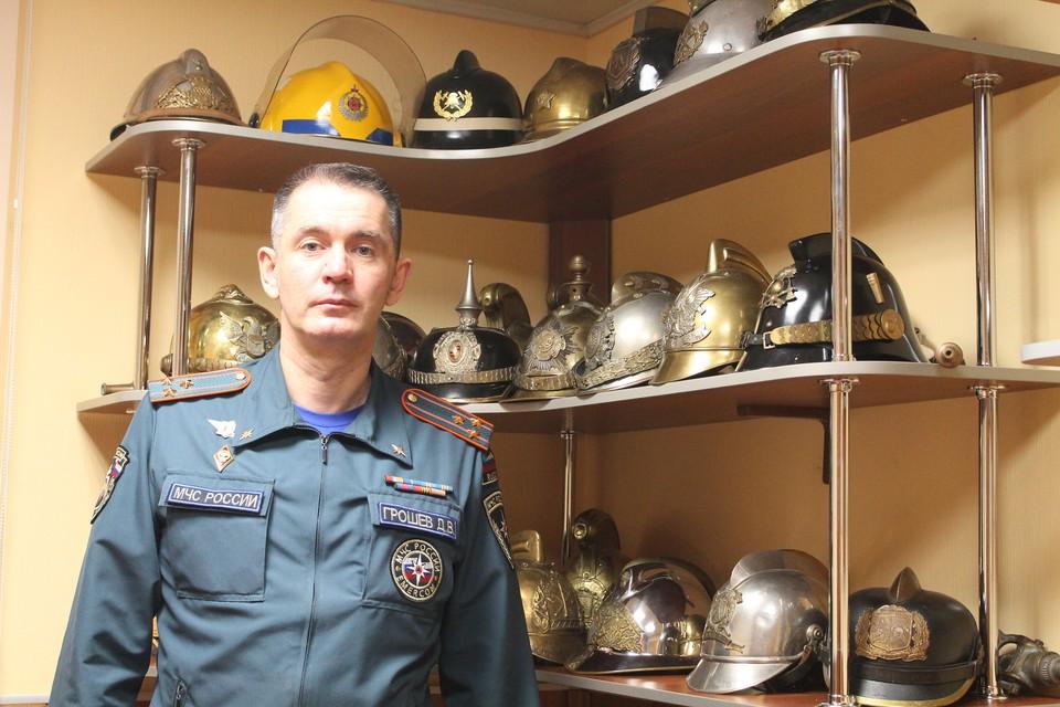 Начальник специализированной пожарно-спасательной части Главного управления МЧС России по Коми Дмитрий Грошев