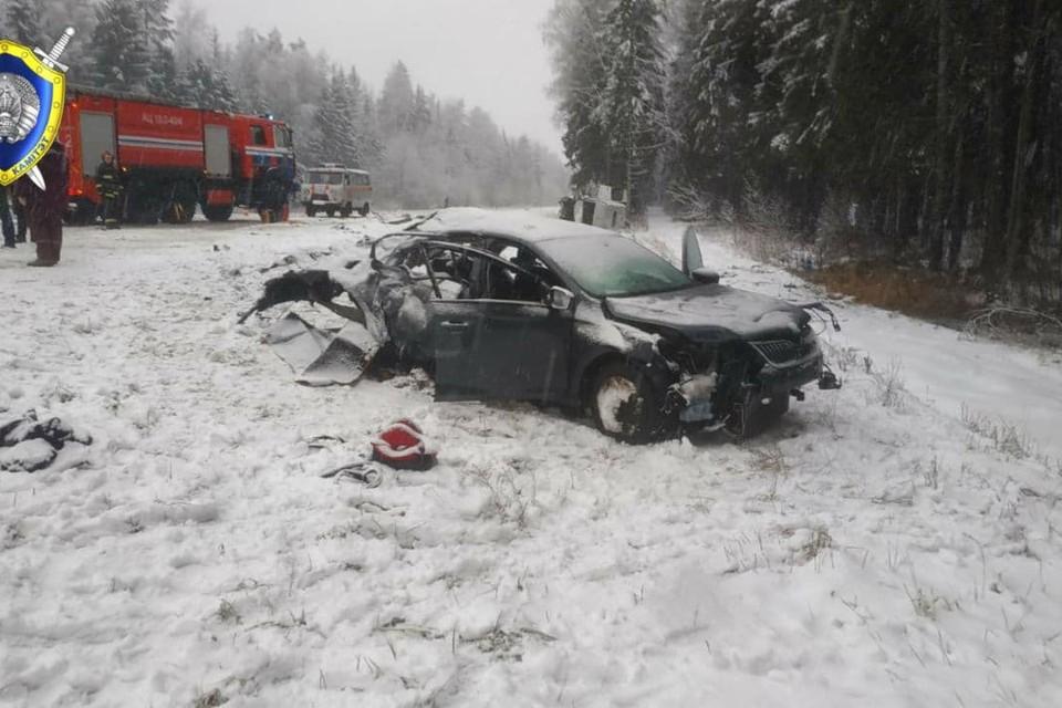 Легковое авто столкнулось с микроавтобусом, погибли двое детей. Фото: Следственный комитет.