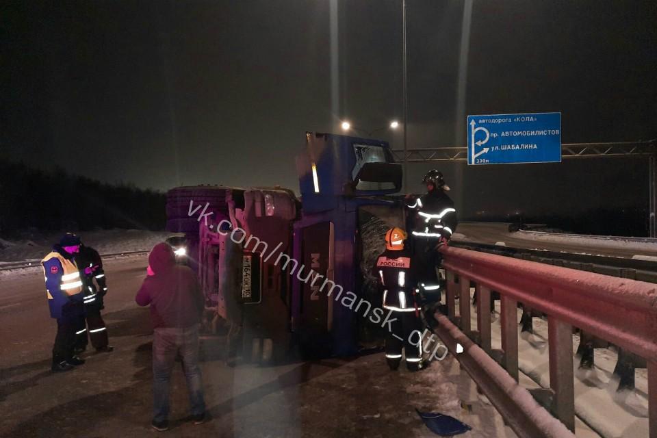 Обошлось без пострадавших. Фото: vk.com/murmansk_dtp
